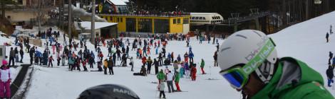 Grande affluenza di sciatori sulle piste di Camigliatello Silano