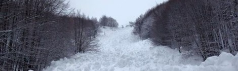 Valanga sul Monte Sirino: distrutta la seggiovia